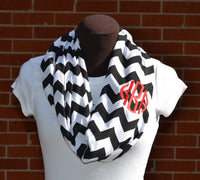 Custom Embroidered/Monogrammed Chevron Infinity Scarves- Many Colors/Variations!!!