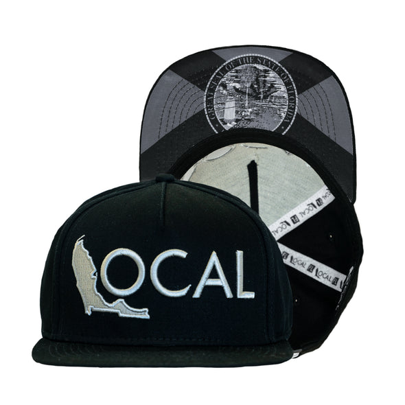 FL Local Snapback - Half Mast Black Out
