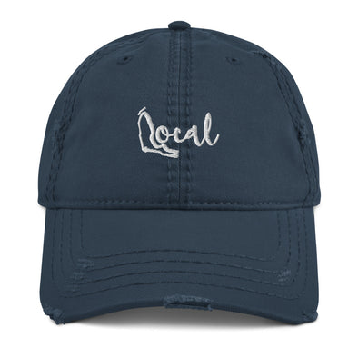 FL Local Dad Hat - Navy / White Cursive Logo