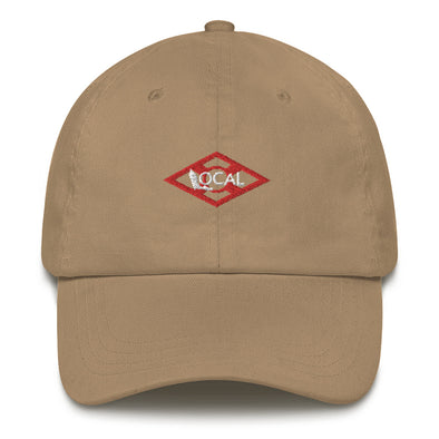 FL Local Dad hat - Flag Icon Khaki / Red