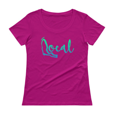 FL Local Ladies Scoopneck - Cursive