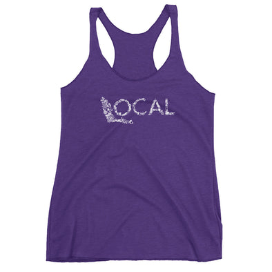 FL Local Racerback Tank - White Coastal Collage Logo