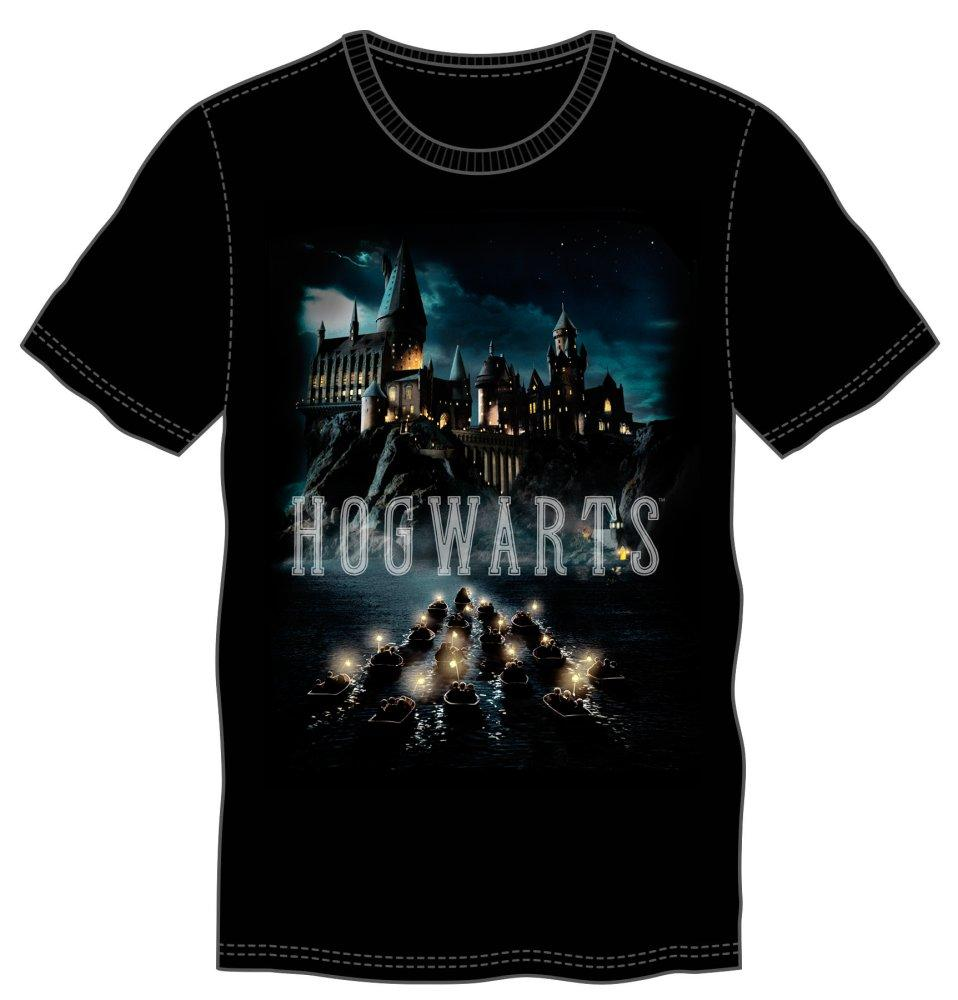 Harry Potter Deathly Hallows Logo Mens Black T Shirt Geartopia