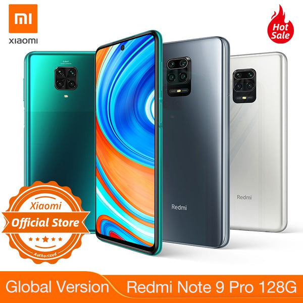 New Global Version Xiaomi Redmi Note 9 Pro 128GB NFC Smartphone 6G 64MP Quad Camera Snapdragon 720G G-Pay 2400x1080 Displ 30W QC
