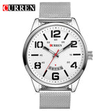 Curren Fashion Japan Men Quartz Watch Men's luxury casual style quartz-watch Stainless steel Mesh Band Date Business Relojes New