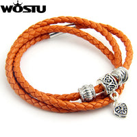Hot Sale 5 Color Leather Wrap Bracelet for Women Men With Silver Charm Magnet Clasp Fast Shipping Gift XCJ0311