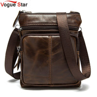 Vogue Star ! New Arrived  Brand genuine leather men bag fashion men messenger bag bussiness bag  BK7009