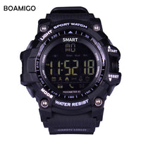 Smart Watches men Sports Wristband BOAMIGO Fashion Watches Call Message Reminder pedometer Calories bluetooth waterproof watch