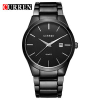 New Top Luxury Brand Quartz Watch Men's Fashion Dress Tag Black full steel Business Colck Male Simple Casual Wristwatch gift