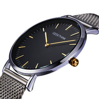 Top Brand Luxury Quartz Watch men Casual Black Japan quartz-watch stainless steel Wooden Face ultra thin clock male Relogio New