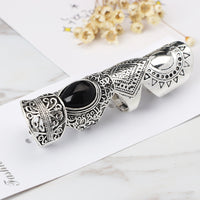 4pcs/Set Women Bohemian Vintage Silver Stack Rings Above Knuckle Rings