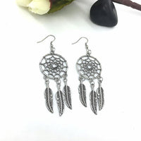 1 Pair Fashion Women Lady Dreamcatcher Ear Stud Gold Earrings
