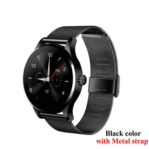 K88H Smart Watch 1.22 Inch IPS Round Screen Support Sport Heart Rate Monitor Bluetooth SmartWatch For IOS Android