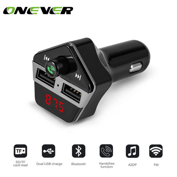 Bluetooth Car Kit Handsfree Set FM Transmitter MP3 music Player 5V 3.1A Dual USB Car charger TF Slot DC12-24V