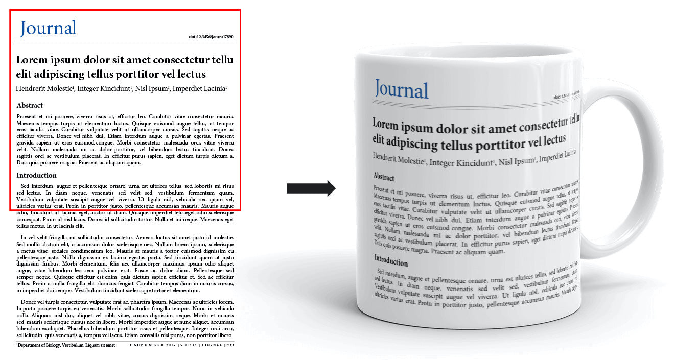 Your paper to Featured Publication Mug