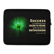 Laptop Case - with Winston Churchill's quote