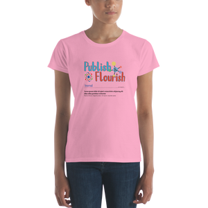 Publish & Flourish Women's short sleeve t-shirt
