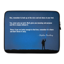 Laptop Case - with Stephen Hawking's quote