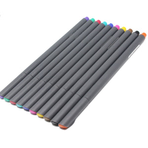 High Quality Fine Tip Colored Pen Set (10 Colors)
