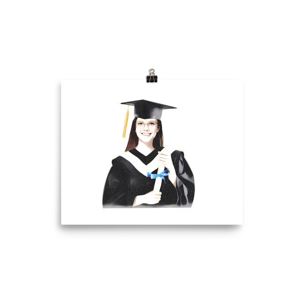 Bachelor's degree Graduation Portrait (8 x 10 inch) - Woman