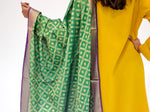 Green and Gold Silk Dupatta