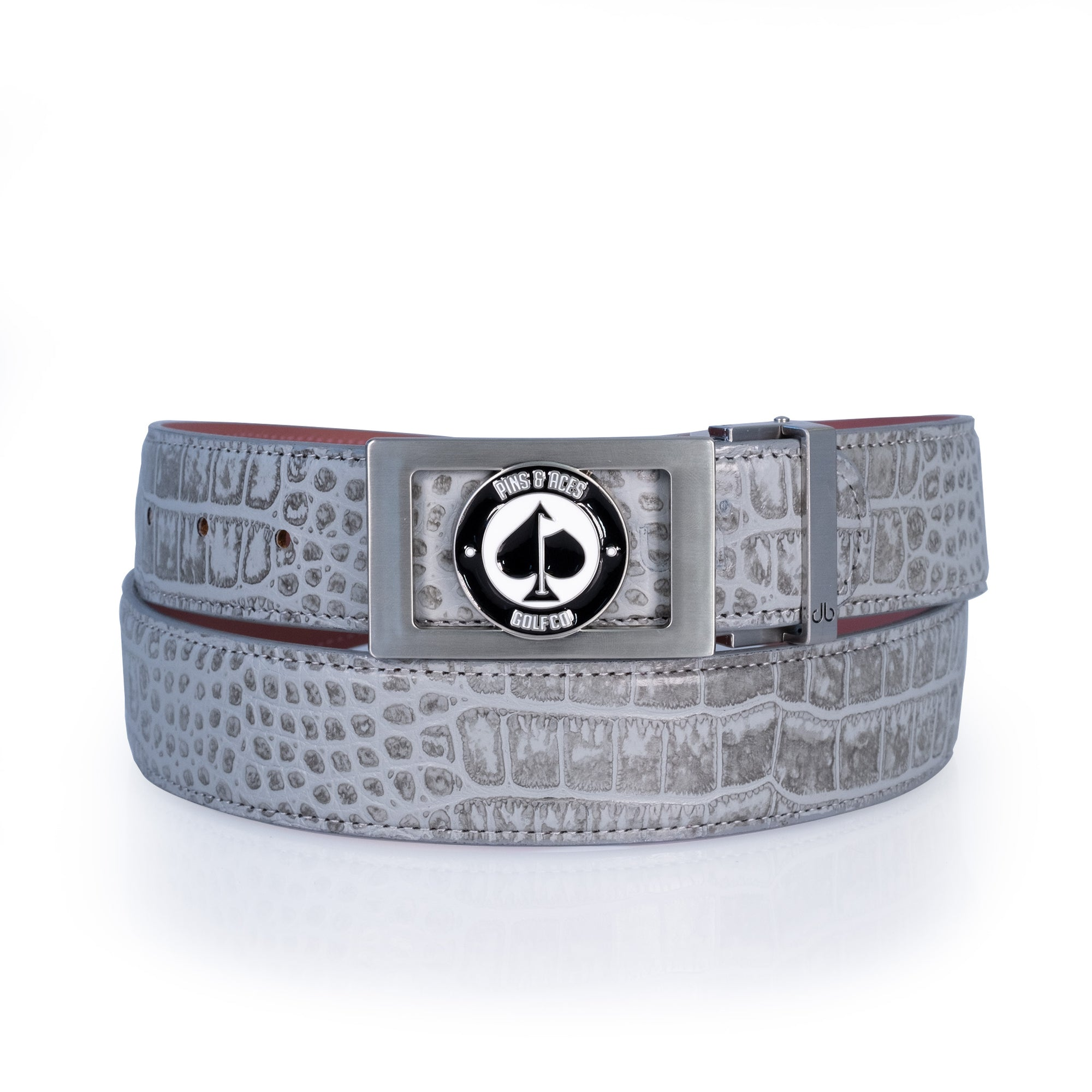 Grey Crocodile Belt