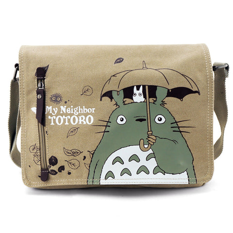 Fashion Totoro Crossbody Bag Men Messenger Bags Canvas Shoulder Bag
