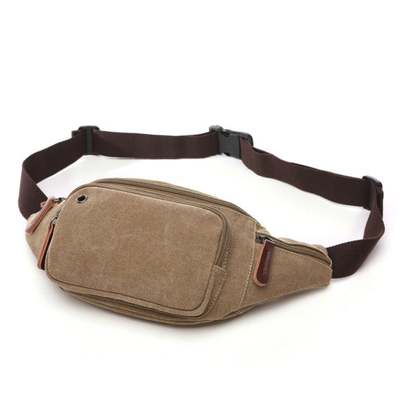 Multi-function Canvas Waist Bag Men Fanny Pack Man Out Door Money Belt