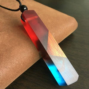 Collar Wood Handmade Resin