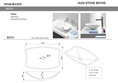 architect design stone basin