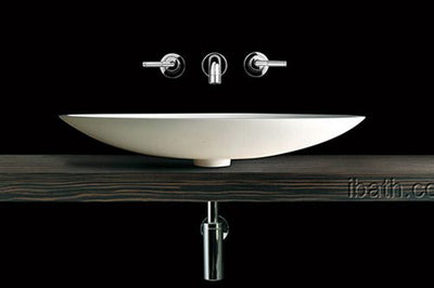 Matt White Finish stone Basin