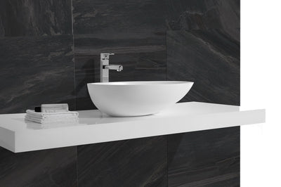 white stone Basin 605x440x160mm
