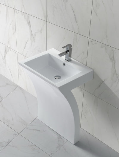 Solid Surface Freestanding Bath Basin