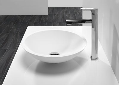 Matt White stone bath basin