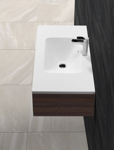 Matt White bath stone basin