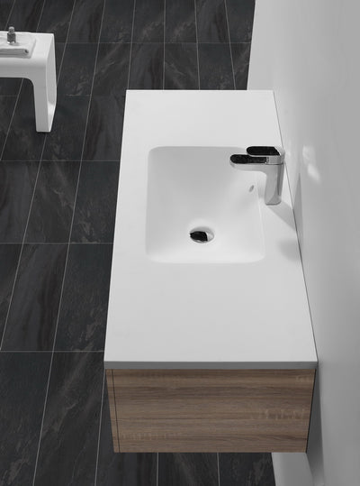 Matt White Basin Bench Top