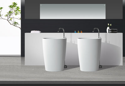 Solid Surface Freestanding cylinder Basin