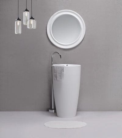 hugi matt white freestanding basin