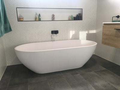 Justina  white finish Stone baths