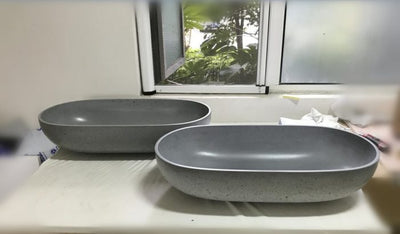 Counter top stone basin