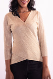 Women Long Sleeve Beige Blouse - Hillmarten