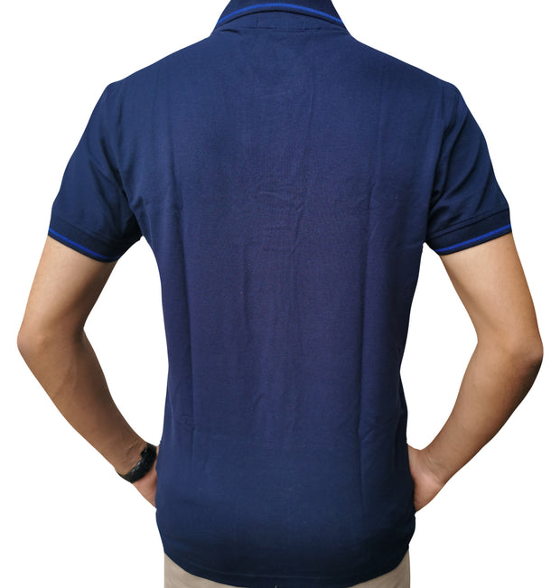 Men's Slim Fit Half Sleeve Navy Blue Polo Shirt