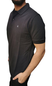 Men's Regular Fit Half Sleeve Black Polo Shirt