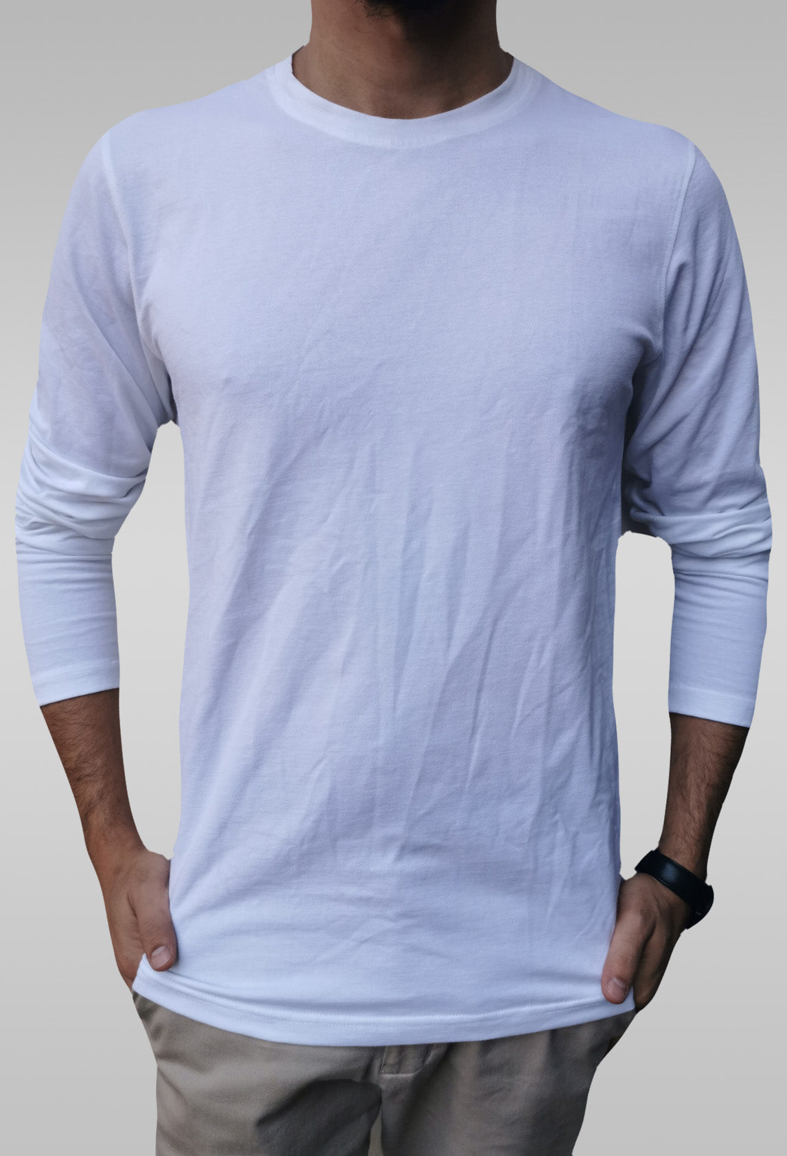 Long Sleeve White T-Shirt - Hillmarten