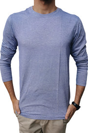Long Sleeve Moss Blue T-Shirt