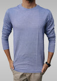 Long Sleeve Moss Blue T-Shirt - Hillmarten