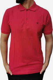Men's Regular Fit Half Sleeve Red Polo Shirt