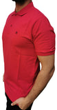 Men's Regular Fit Half Sleeve Red Polo Shirt - Hillmarten