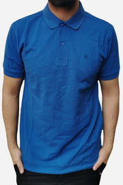 Men's Regular Fit Half Sleeve Blue Polo Shirt - Hillmarten