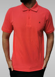 Men's Regular Fit Half Sleeve Rose Red Polo Shirt - Hillmarten